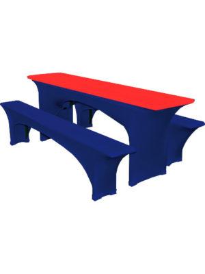 Stretch-Tischplattenbezug fuer Bierzeltgarnituren