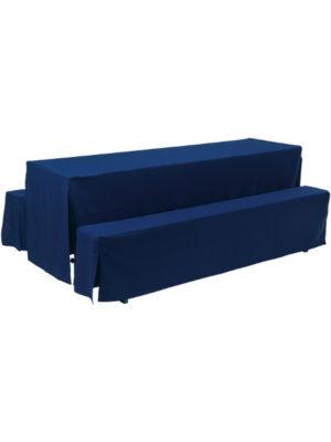 Hussen-Set BERLIN für Bierzeltgarnituren mit 50cm Tischbreite und 220 cm Tischlänge. Weitere Tischbreiten 60,70 und 80 cm auch möglich