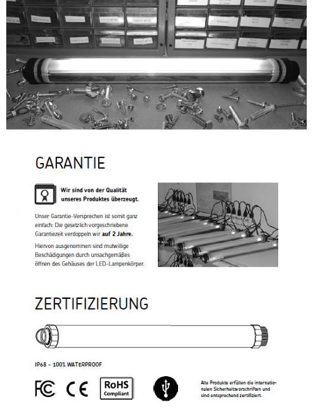 LED-Lumination: Zertifizierung und Garantie-Hinweise