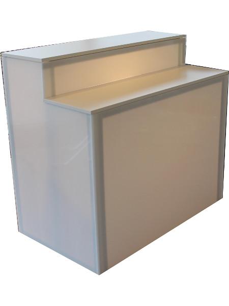 LED-Lumination: Magnetische Halter ermöglichen auch eine Befestigung als Theken-Beleuchtung! Hier bei Theke KUBA-WALL