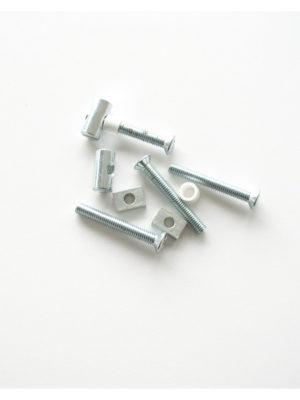 Schrauben-Set vom Mittelteil für Stehtisch KT mit und ohne Sonnschirmloch in schwarz oder weiss