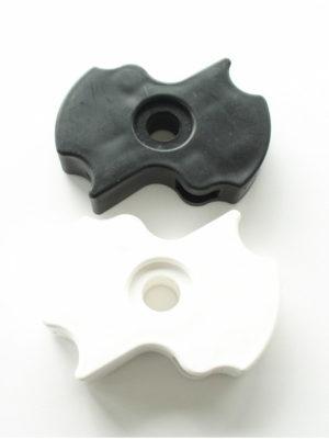 Mittelteil unten für Stehtisch KT mit Sonnschirmloch in schwarz oder weiss