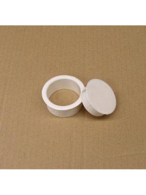 Schirmlocheinsatz für Tischplatten mit Plattenstärke von 16 mm mit separatem Deckel