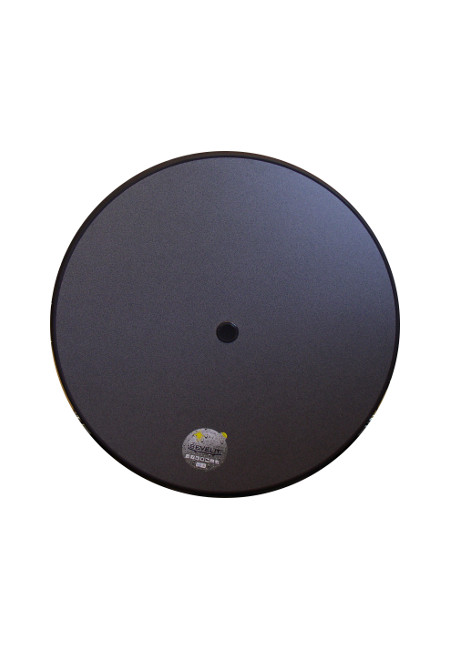 Original Sevelit-Tischplatte in Ø 70 cm im Dekor PUNTI mit anthraziter schlagfester PE-Kunststoffkante und Schirmloch inkl. Einsatz