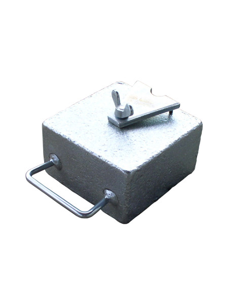 Zeltgewicht 15 kg mit Haltepratze und Tragegriff. Geieignet für DAS KLAPPZELT, Werkzelt, Schnellaufbauzelt KING und McZelt