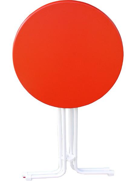 Zusammen geklappt: Stehtisch KT Colour mit Roter Tischplatte und weissem Untergestell. Individuell und besonders für Freunde vom 1. FC Köln! Tolles Geschenk!