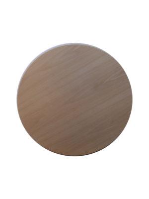 Multiplexbuchen Tischplatte in 70 cm Durchmesser mit schräger Tischkante. Hochwertig, Formstabil und schön