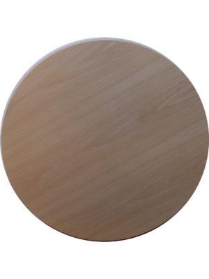 Hochwertige Tischplatte aus Multiplexbuche in 82 cm Durchmesser mit abgeschrägter Tischkante