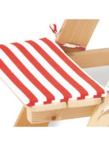 Polsterauflagen Kinder-Sitzgruppe NIKKI in rot-weiss gestreiftem Muster