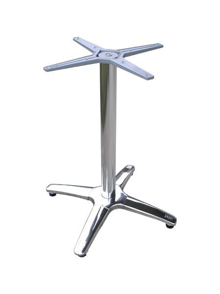 Sitztisch-Untergestell mit verchromtem Kreuzfuß. Alle 4 Füße mit Stellschrauben zum Ausgleich von Bodenunebenheiten. Standfest und Formschön!