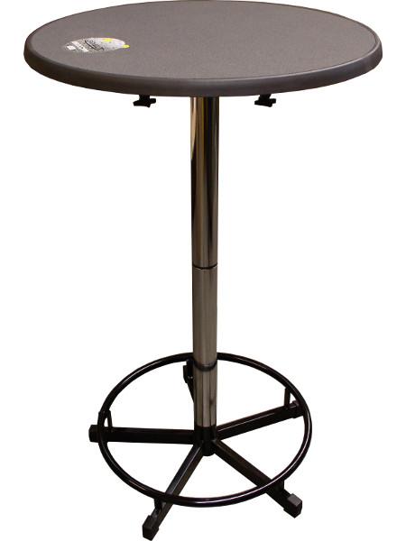Praktisch-Stehtisch 70 mit Tischplatte Sevelit im Dekor PUNTI mit schlagfester PE-Kunststoffkante.