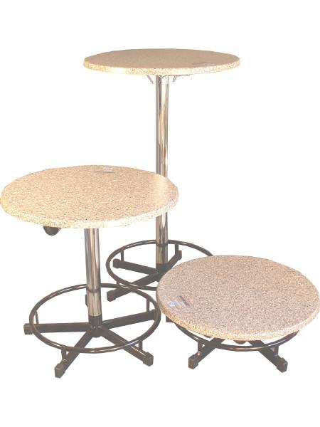 Praktisch-Stehtisch in 3 Höhen: Stehtisch - Sitztisch und ganz klein für den Transport. So passt er in jedes Auto!