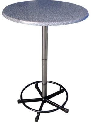 Praktisch-Stehtisch mit Fussring und 80er Tischplatte. Zerlegbar, stapelbar und ideal für Beruf und Freizeit!
