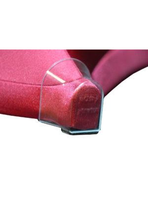 Durchsichtige Kunststoffkappe zum Schutz Ihrer Stretchhusse GALACTICA. Immer für Modelle mit Kreuzfuß und Standard-Tische mit max. 32x42er Fußkappe wie E005 oder E006 vom KT-Stehtisch KAISER