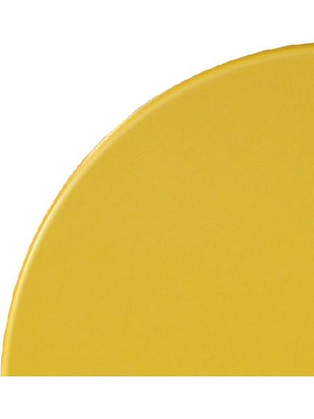 Tischplatte in Ø 70 cm in einem kräftigen Gelbton.