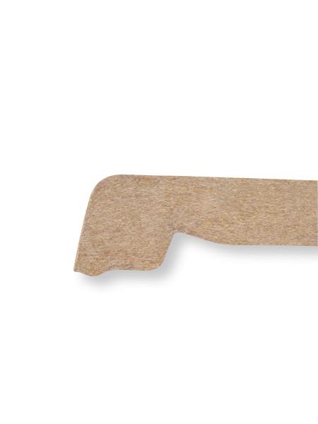 Schnitt-Foto vom Profil der Tischplatte TOPALIT bie den Größen Ø 70 und Ø 80 cm