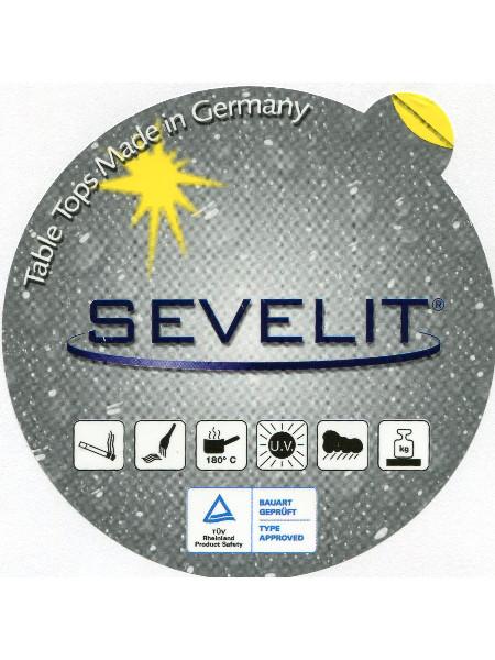 Eigenschaften Sevelitplatte: Zigarettenglutunempfindlich, Kratzfest, Hitzebeständig bis 180°, UV-beständig, Wetterfest und stabil
