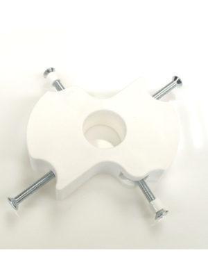 Mittelteil für Stehtisch KT mit und ohne Sonnschirmloch in schwarz oder weiss. Hier inkl. dem Schrauben und Verbindungs-Set E007