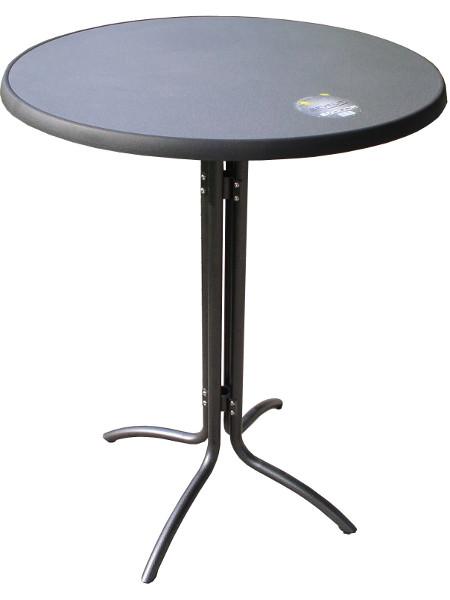 Stehtisch im Sonderangebot! COMBI mit klappbarem Untergestell und aufsteckbarer Tischplatte SEVELIT PUNTI in 85 cm rund