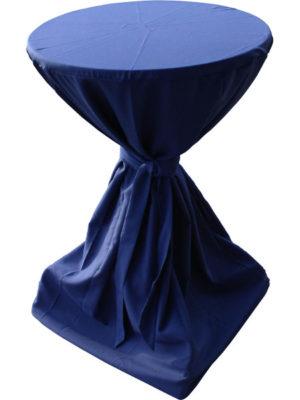 Schleifenhusse aus Burlington Polyester für Stehtische