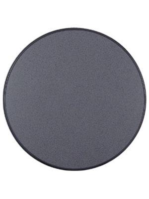Original Sevelit-Tischplatte in Ø 85 cm im Dekor PUNTI mit anthraziter schlagfester PE-Kunststoffkante