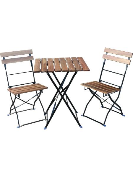 Beispielbild: Sitzgruppe BISTRO mit 2 BISTRO Chair Stühlen und 1 Tisch BISTRO Table