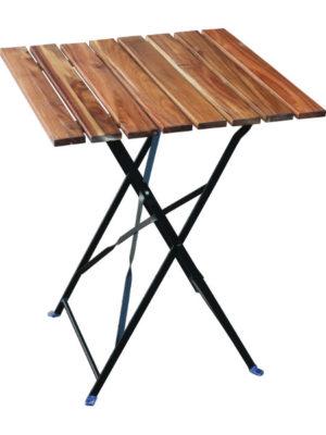 Klapptisch BISTRO aus Stahl und Akazienholz
