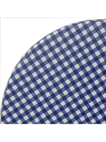 Detail Tischplatte Karo blau