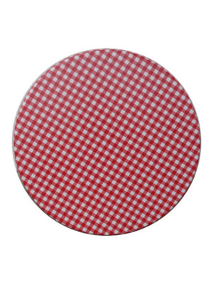 Tischplatte Karo rot in R70