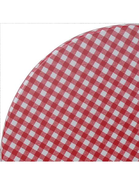Detail Tischplatte Karo rot
