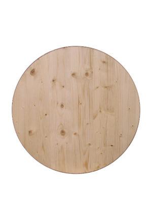 Mehrschicht Leimholzplatte lasiert Durchmesser 70 cm