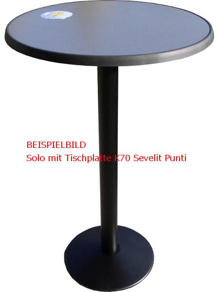 Beispielbild: So könnte Ihre Stehtisch-Untergestell mit der Tischplatte Sevelit 70 aussehen