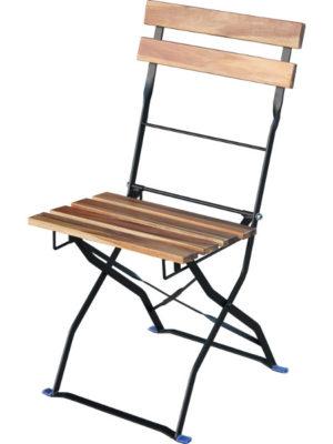 Bistro Chair Klappstuhl Akazie und Stahl