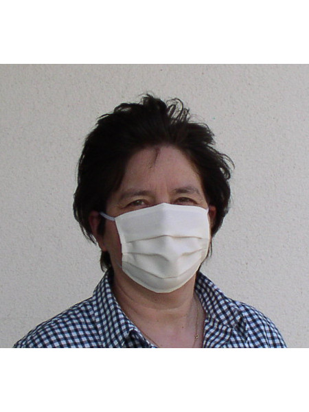 Baumwollmaske mit Gummiband: Waschbar bis 100°C und wiederverwertbar. Alltagsmaske zum Einkaufen, Bus fahren und für jeden Tag!