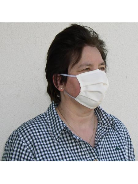 Baumwollmaske COTTON FLEX mit Gummiband: Waschbar bis 100°C und wiederverwertbar. Community-Maske zum Einkaufen, Bus fahren und für jeden Tag!