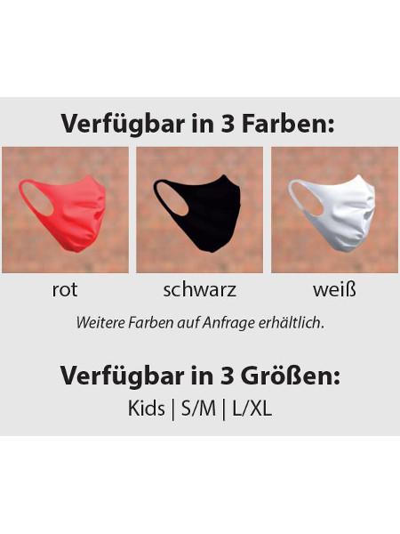 Mund-Nasen-Maske Farben + Groessen