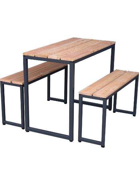 Balkongarnitur FELIX für 4 Erwachsene. Design-Möbel in praktischer Ausführung!