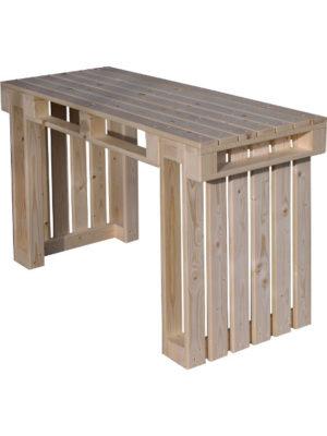 Palettenmöbel: Der Sitztisch besteht uas 3 Teilen, die einfach nur zusammen gesteckt werden. Kein Werkzeug nötig!