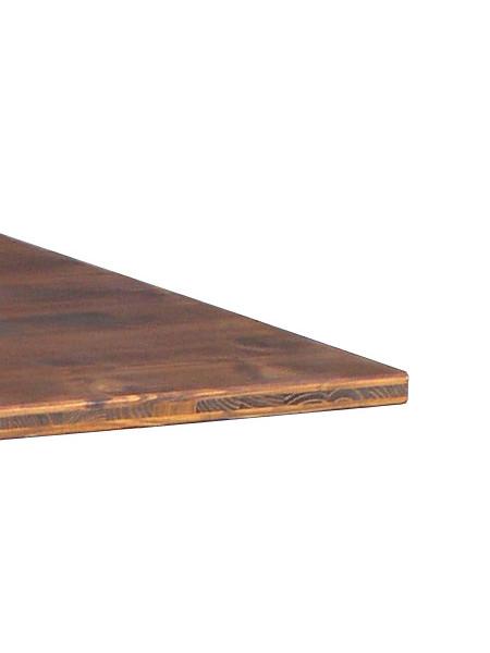 Tischplattenkante Mehrschichtleimholz in Nussbaum-Farbe gebeizt