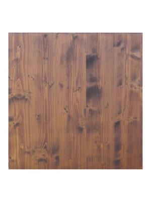 Holz-Tischplatte in 70x70 cm in Nussbaum-Farbe gebeizt