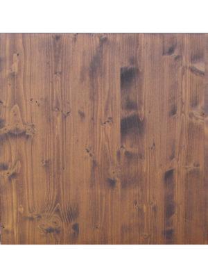 Holz-Tischplatte in 80x80 cm in Nussbaum-Farbe gebeizt