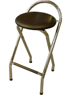 Platzsparend und bequem. Der Klapp-Sitzhocker FLAP in verchromt mitschwarzem Polster aus Kunstleder. AUSLAUFMODELL jetzt günstig kaufen!