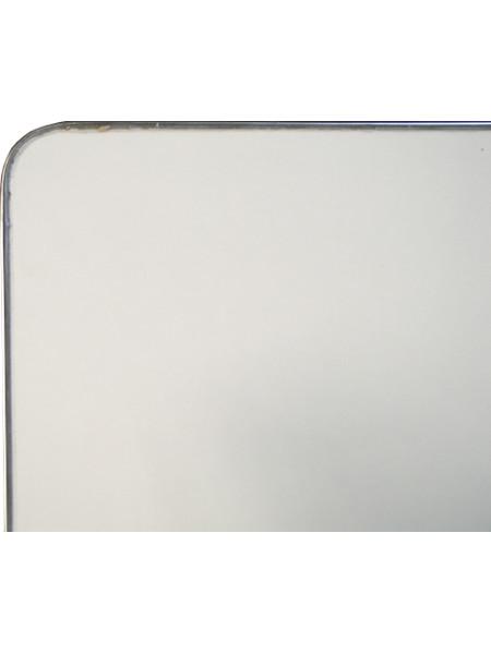 Detail Tischplatte INOX 70 x 70 aus Edelstahl. Hier: Rückseite