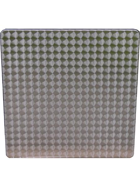 Eckige Edelstahl-Tischplatte in 70x70 cm. Wetterfest und von hoher Stabiliät und guter Ausführung. Ideal für die Gastronomie