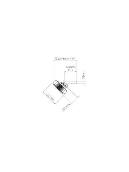 Technische Ansicht Seite: Sorrento-Single Heizstrahler mit Infrarot-Wärme