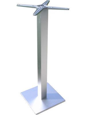 Luc-Stehtisch-Untergestell aus Aluminium. Eckig