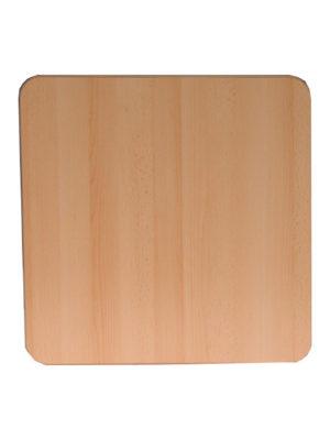 Eckige Tischplatte in Buche-Dekor mit MDF-Kern in 68 x 68 cm