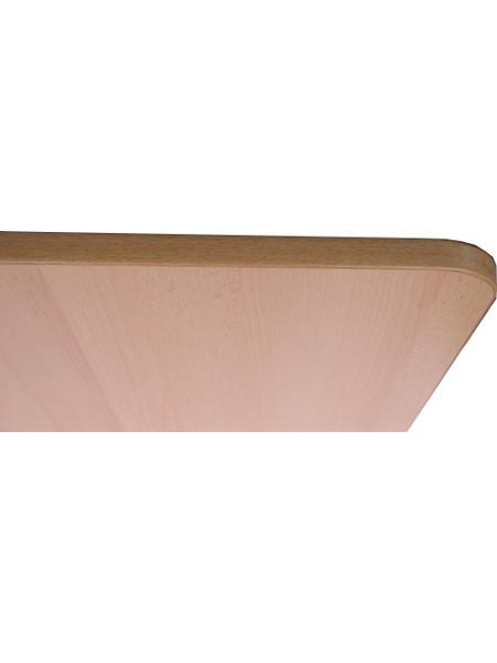 Tischkante der Tischplatte in Buche-Dekor mit MDF-Kern in 68 x 68 cm