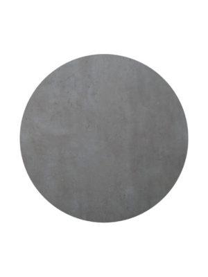 Tischplatte Durolight im Dekor Beton und 68 cm Durchmesser