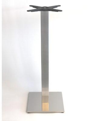 Eckiges Stehtisch-Untergestell aus Edelstahl für Tischplatten bis 70x70 cm: Inox Square